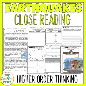 Earthquakes Reading Comprehension