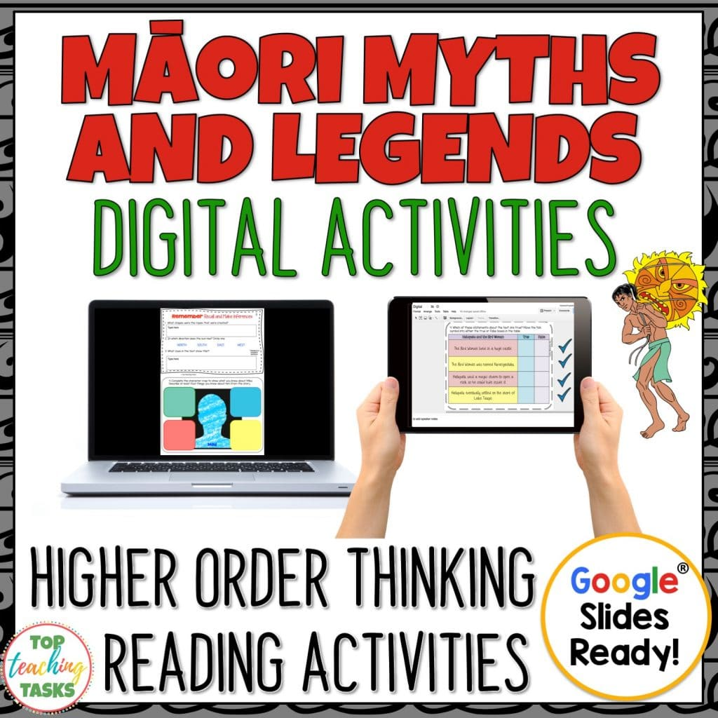 Maori Myths and Legends digital. Māori Myths and Legends Interactive Digital Reading Activities for Google Drive®️️ Go paperless with our Google Slides-ready reading comprehension resource! This Google Resource includes four Year Five and Six narrative myth passages with six unique slide