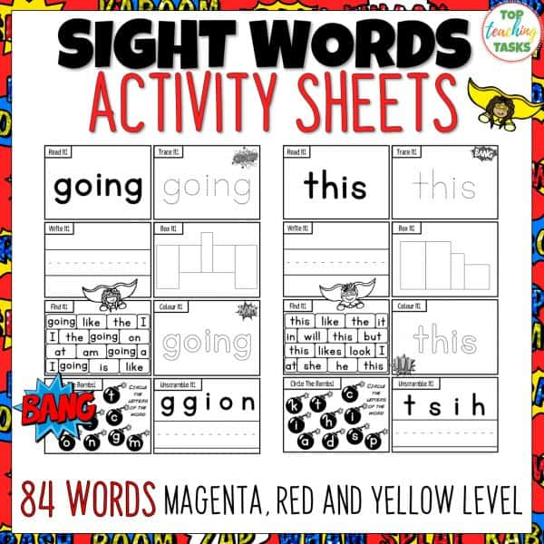Sight Word Activity Worksheets