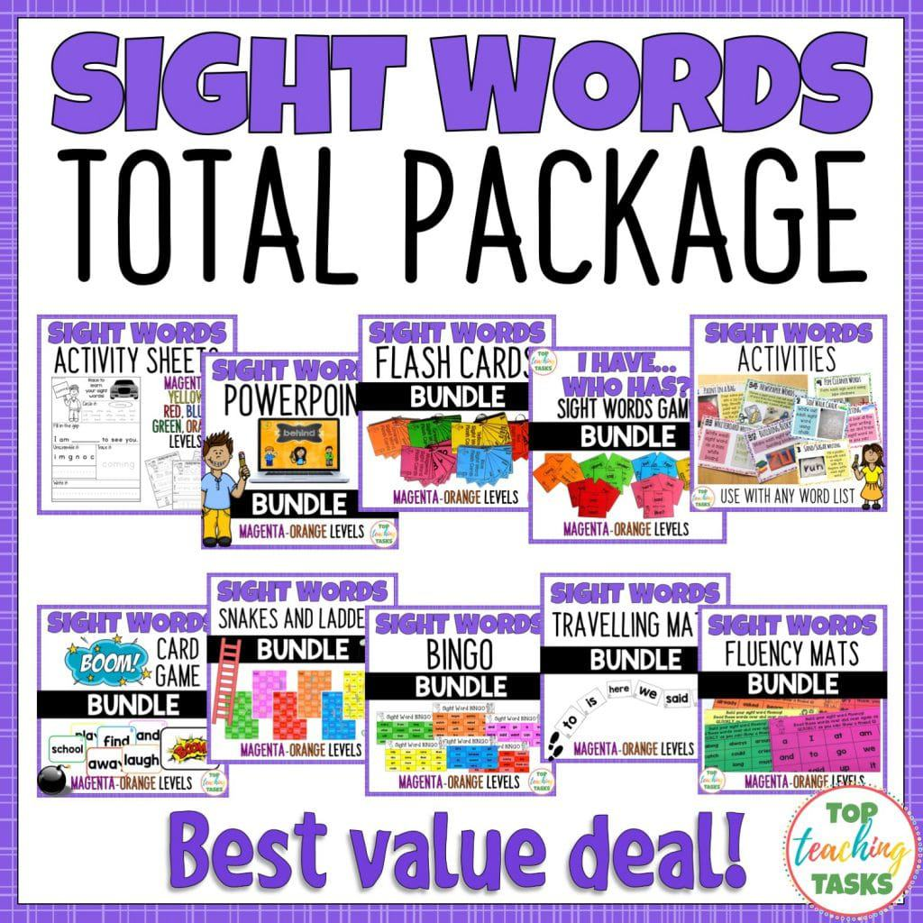 Sight Words Total Package