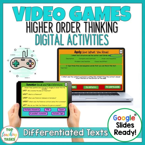 Video Games Digital Reading Comprehension