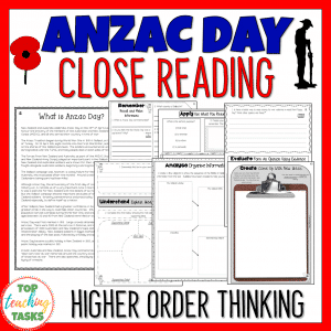 Anzac Day Reading Comprehension