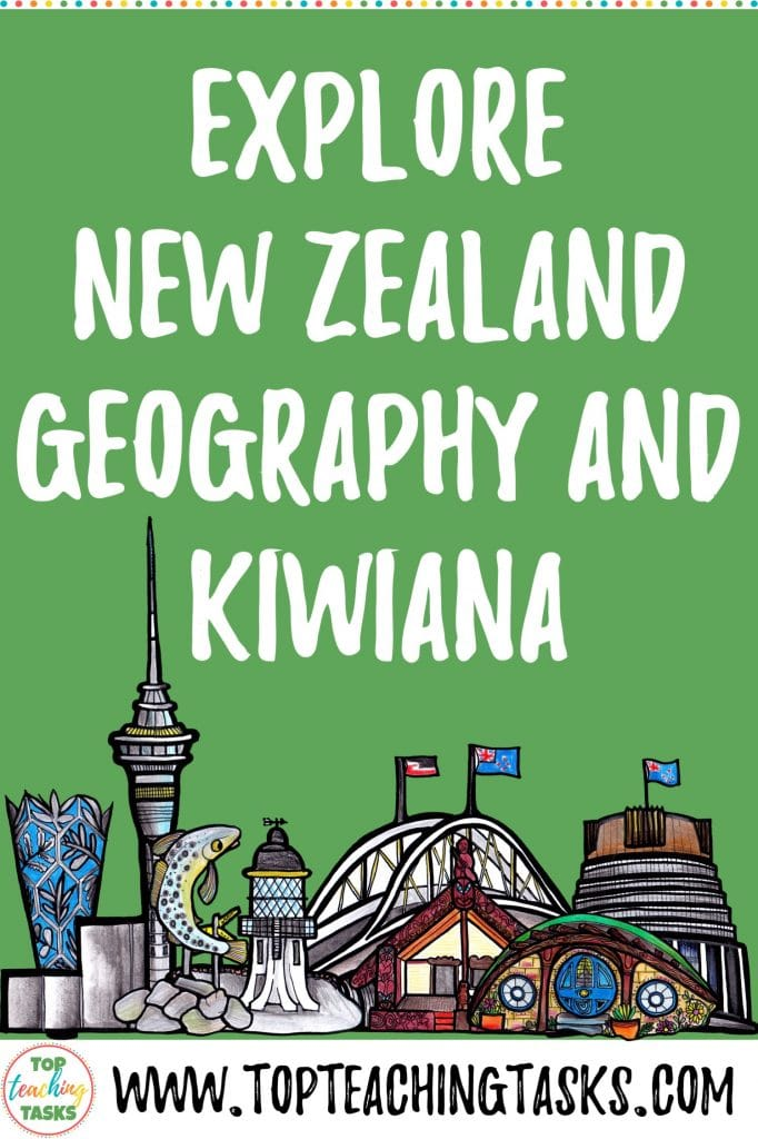 """If you ask your students to name some of the major symbols in New Zealand or """"Kiwiana"""" culture, most could list a few. Ask those same students to point to where they live on a map and the likelihood of success is less! Our latest resource helps you to explore New Zealand Geography and Kiwiana Culture with your students, while improving mapping skills. Learn how we put this resource together and the best ways to implement it in your upper primary classroom."""