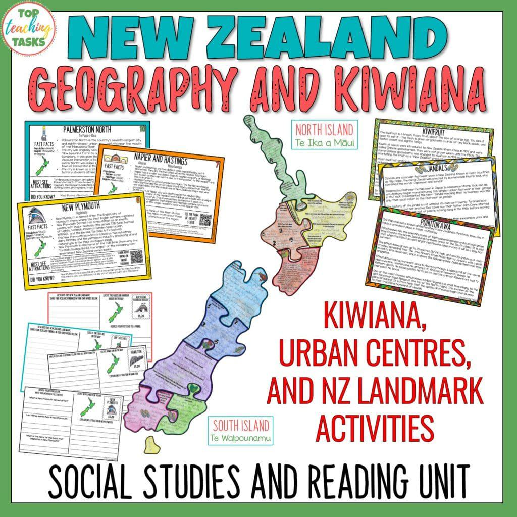 If you ask your students to name some of the major symbols in New Zealand or Kiwiana culture, most could list a few. Ask those same students to point to where they live on a map and the likelihood of success is less! Our New Zealand Geography and Kiwiana activities help your upper primary to explore Aoteoroa while improving mapping skills. Te Reo Maori names are added as well as Maori and New Zealand history facts.