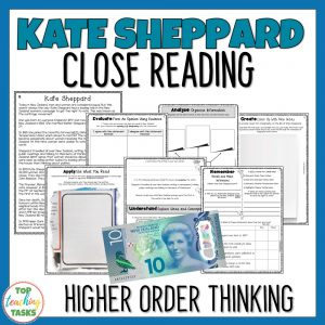 Kate Sheppard Reading comprehension
