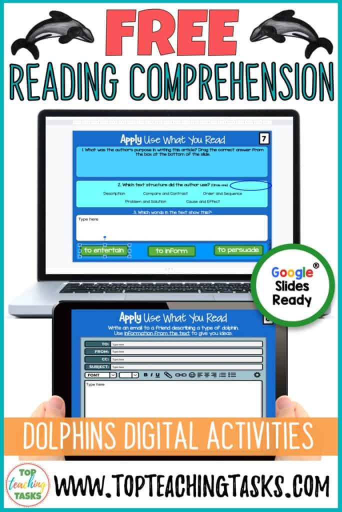 Free Digital Reading Comprehension. With many of thrown into an unexpected period of distance learning, I wanted to highlight how my digital reading comprehension activities can help your students maintain and improve their reading skills. I've put together a free activity so you can trial Digital Reading Comprehension for Distance Learning. Help your elementary students and primary students to practice reading comprehension skills. Covid-19 Coronavirus