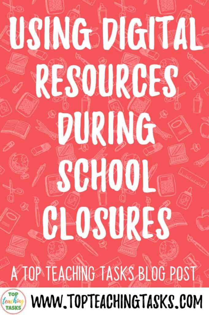 Digital resources during school closures. With the Covid-19 pandemic and coronavirus, the reality of school closures is less of a possibility and more of a reality for many. But even if it isn't affecting you right now, it is great to be prepared. This blog post provides some examples of free resources that can help you during distance learning and remote learning opportunities. I also highly our range of digital resources for reading comprehension, writing and other literacy areas.