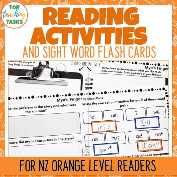 Orange Ready to Read Activities Level 15 and 16