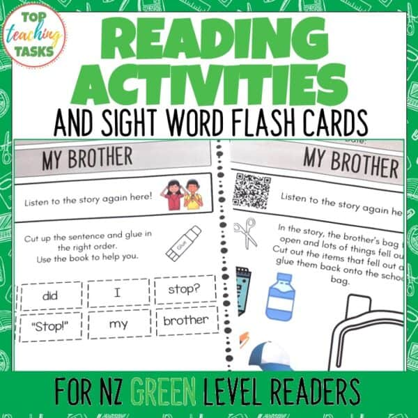 Green Ready to Read Activities
