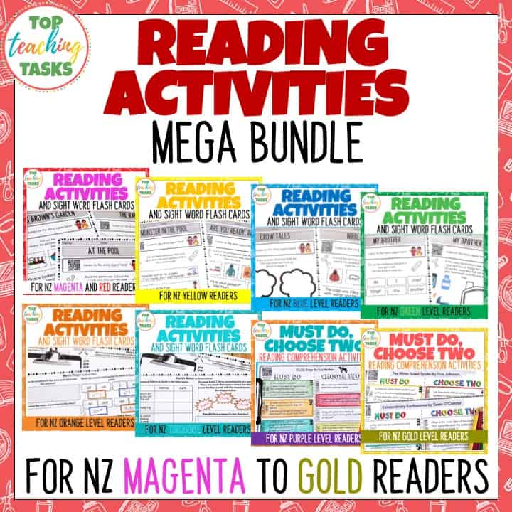 This follow-up activities bundle provides follow-up activities for ALL the Ready to Read readers found in New Zealand schools. That is a total of 133 sets of follow up activities in this bundle! Magenta, Red, Yellow, Blue, Green, Orange, Turquoise, Purple, and Gold levels are covered and the activities suit each level and stage. An engaging format is used to develop your students' sense of agency and independence – perfect for your reading rotations.
