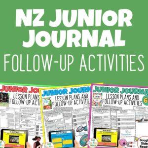 NZ Junior Journal Follow Up Activities