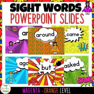 New Zealand Sight Words PowerPoint Slides