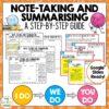 Note-Taking and Summarising