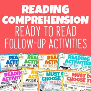 Reading Comprehension Ready to Read Follow Up Activities