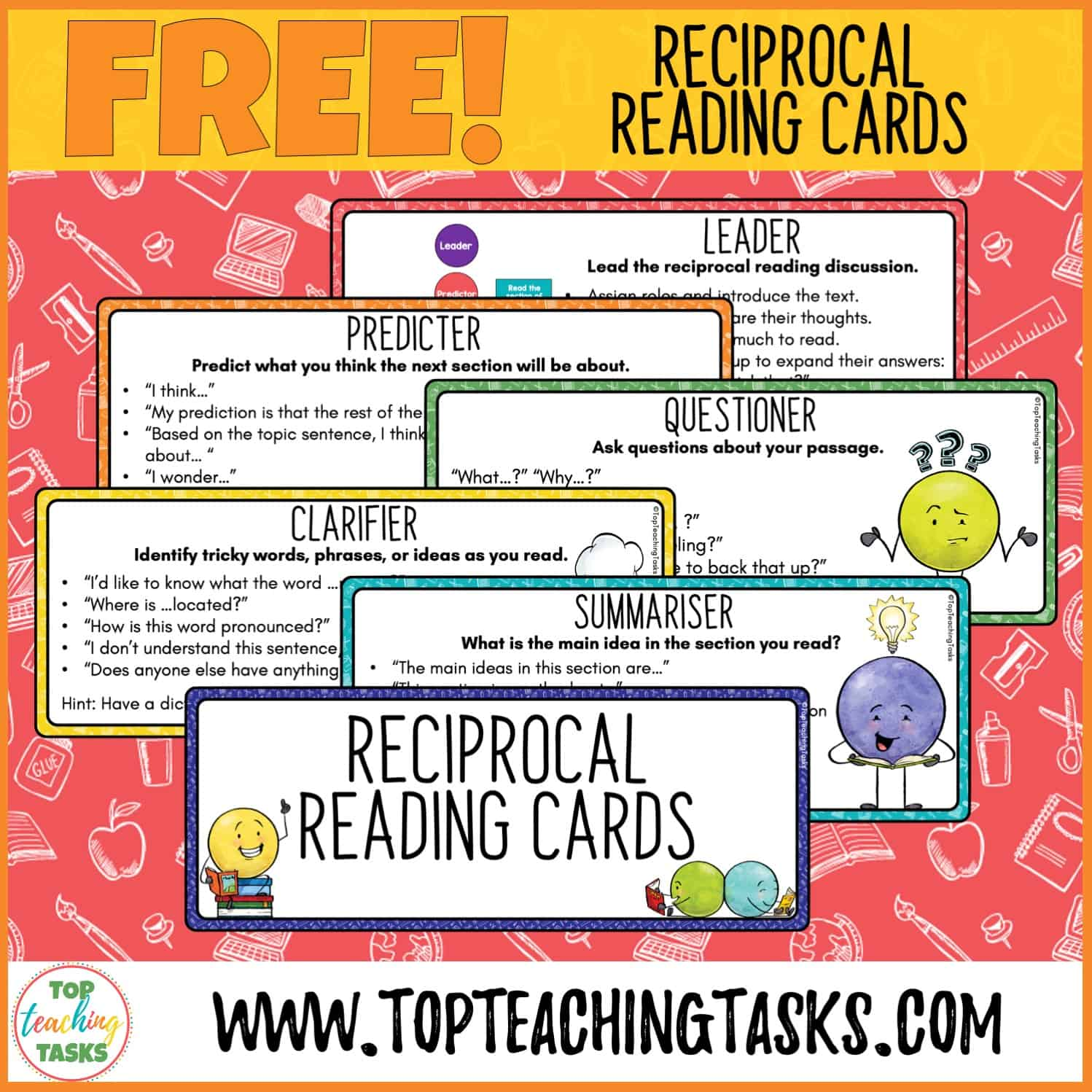 Reciprocal Reading Freebie