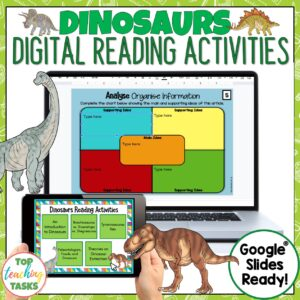 Dinosaurs Digital Reading Activities