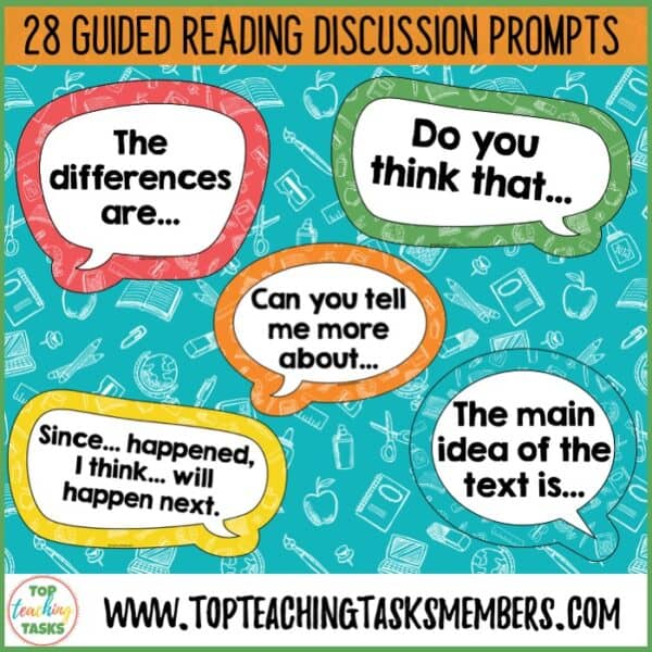 Guided Reading Discussion Starters