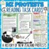 New Zealand Protests Task Cards