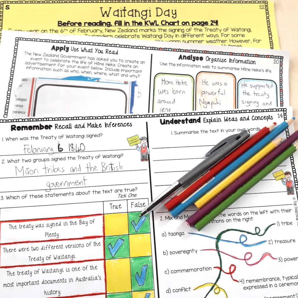 Build enjoyment and engagement in your reading program from day one of the school year! Our Waitangi Day Reading Comprehension resource is easy to use and features flexible text and activity options for you to choose from.