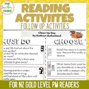 Gold PM Reading Activities