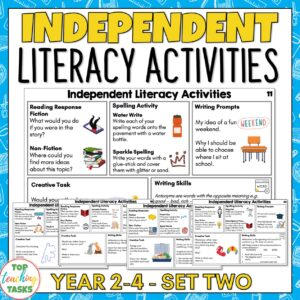 Independent Literacy Activities Years 2-4 set two